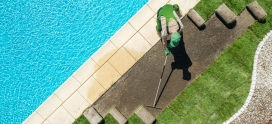 What's included in residential lawn maintenance services?